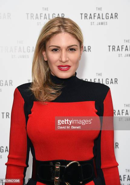 Hofit Golan attends the launch of The Trafalgar St James in the hotel's spectacular new bar The Rooftop on October 18 2017 in London England