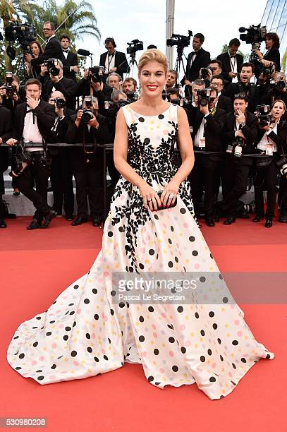 Hofit Golan attends the 'Money Monster' premiere during the 69th annual Cannes Film Festival at the Palais des Festivals on May 12 2016 in Cannes...