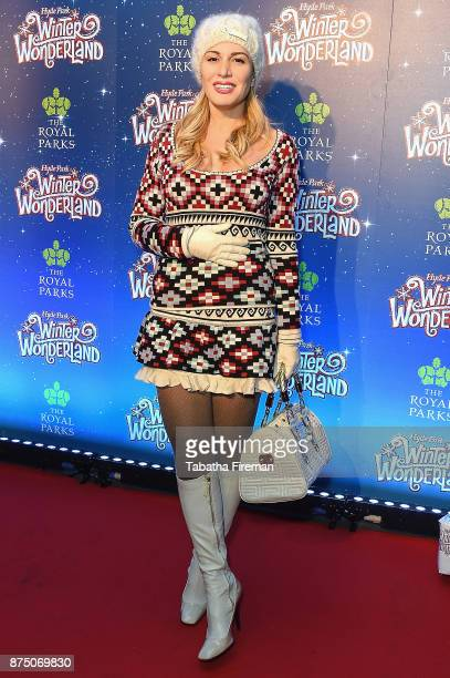 Hofit Golan attends the Winter Wonderland VIP launch night at Hyde Park on November 16 2017 in London England