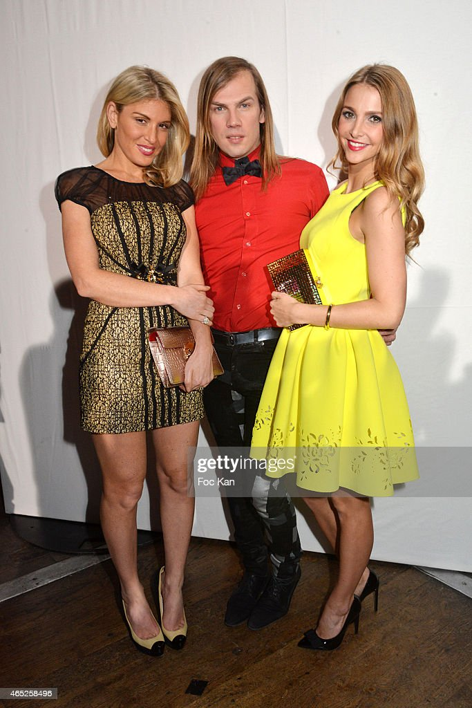 Hofit Golan Christophe Guillarme and Sophie Hermann attend the Christophe Guillarme show as part of the Paris Fashion Week Womenswear Fall/Winter...