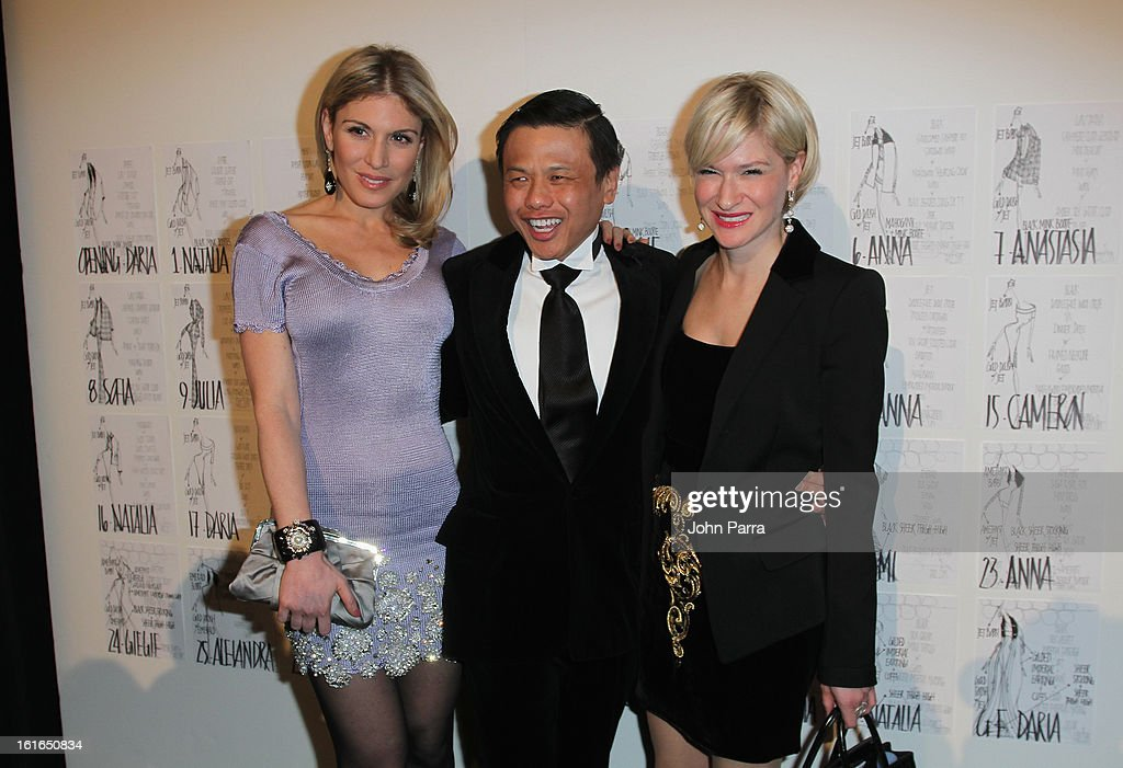 <a gi-track='captionPersonalityLinkClicked' href=/galleries/search?phrase=Hofit+Golan&family=editorial&specificpeople=542603 ng-click='$event.stopPropagation()'>Hofit Golan</a>, designer Zang Toi and Julie Macklowe pose backstage at the Zang Toi Fall 2013 fashion show during Mercedes-Benz Fashion Week at The Stage at Lincoln Center on February 13, 2013 in New York City.