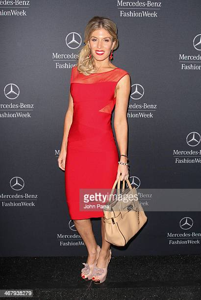 Hofit Golan is seen during MercedesBenz Fashion Week Fall 2014 at Lincoln Center for the Performing Arts on February 8 2014 in New York City