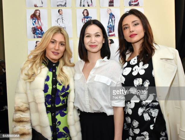 Hofit Golan Leonard designer Christine Phung and Patricia Contreras attend the Leonard Paris show as part of the Paris Fashion Week Womenswear...