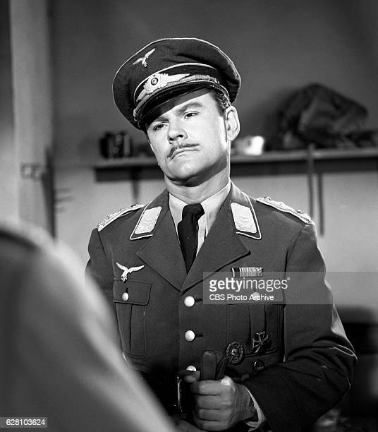 Hogan's Heroes episode Happy Birthday Adolf Pictured Bob Crane disguised as German army Major Hoganborg Image dated July 14 1965 Original broadcast...