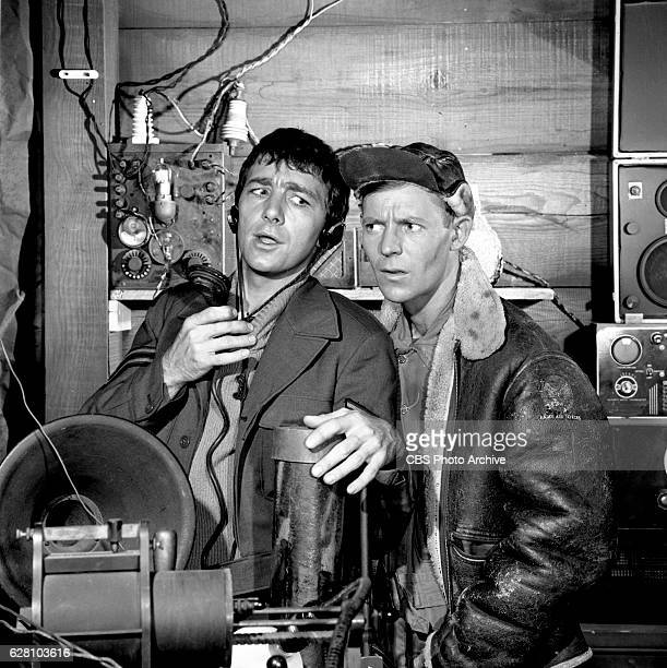 Hogan's Heroes episode Happy Birthday Adolf Pictured from left is Richard Dawson and Larry Hovis Image dated July 14 1965 Original broadcast date...