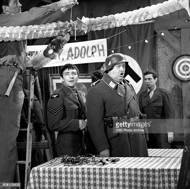 Hogan's Heroes episode Happy Birthday Adolf Pictured from left is Richard Dawson and Werner Klemperer Image dated July 14 1965 Original broadcast...