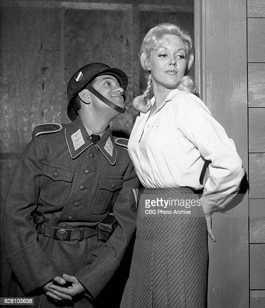 Hogan's Heroes episode Happy Birthday Adolf Pictured from left is Robert Clary and Cynthia Lynn Image dated July 14 1965 Original broadcast date...