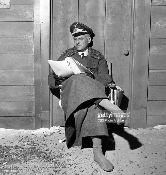 Hogan's Heroes episode Happy Birthday Adolf Pictured is a behind the scenes shot Werner Klemperer relaxing with boots off Image dated July 14 1965...
