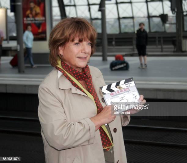 Hoger Hannelore Actress Germany during filming crimeseries 'Bella Block' at Hauptbahnhof in Berlin