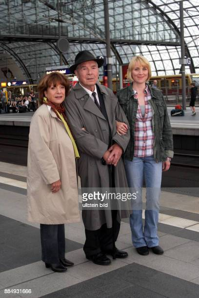 Hoger Hannelore Actress Germany Role as Bella Block with Actor Otto Mellies as 'Arthur Vogt' and Actress Winnie Boewe as 'Solveig Gaertner' during...