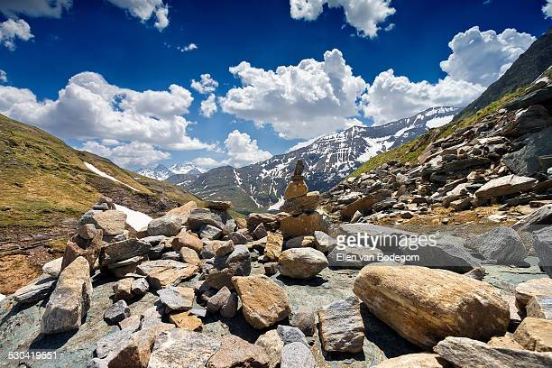 Hohe Tauern mountain landscape with rocks