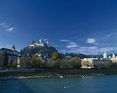 Hohensalzburg Castle,  Moenchsberg,  Salzburg,  Austria