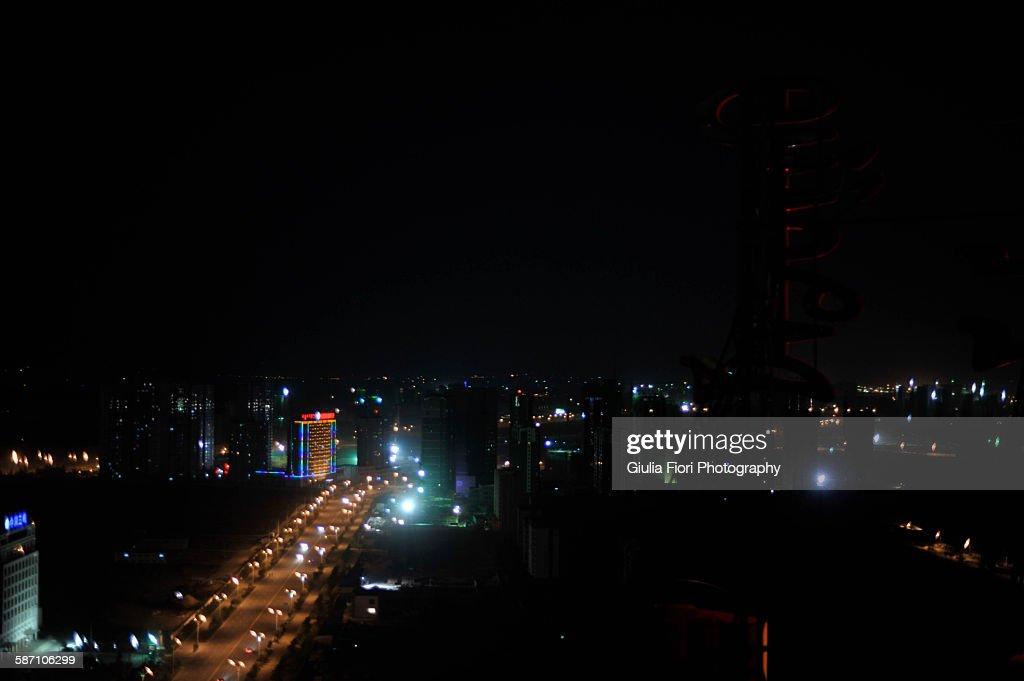 Hohhot at night, Inner Mongolia