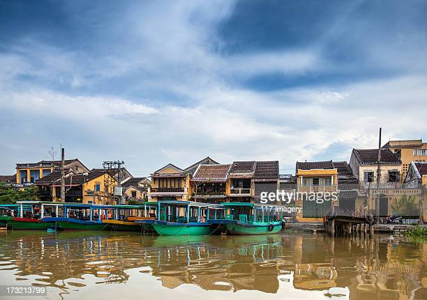 Hoi An architecture on the riverside, Vietnam