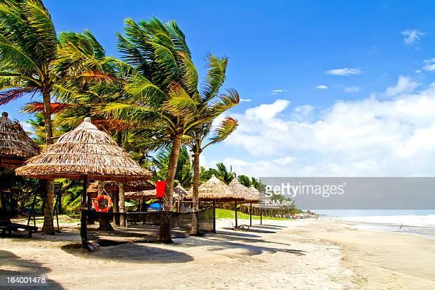 Hoi An Vietnam sunny beach after a storm