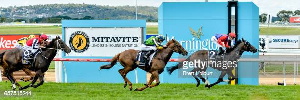 Hokkaido ridden by Beau Mertens wins the Mitavite Challenge Final at Mornington Racecourse on March 25 2017 in Mornington Australia