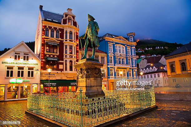 Holberg Statue in Bergen