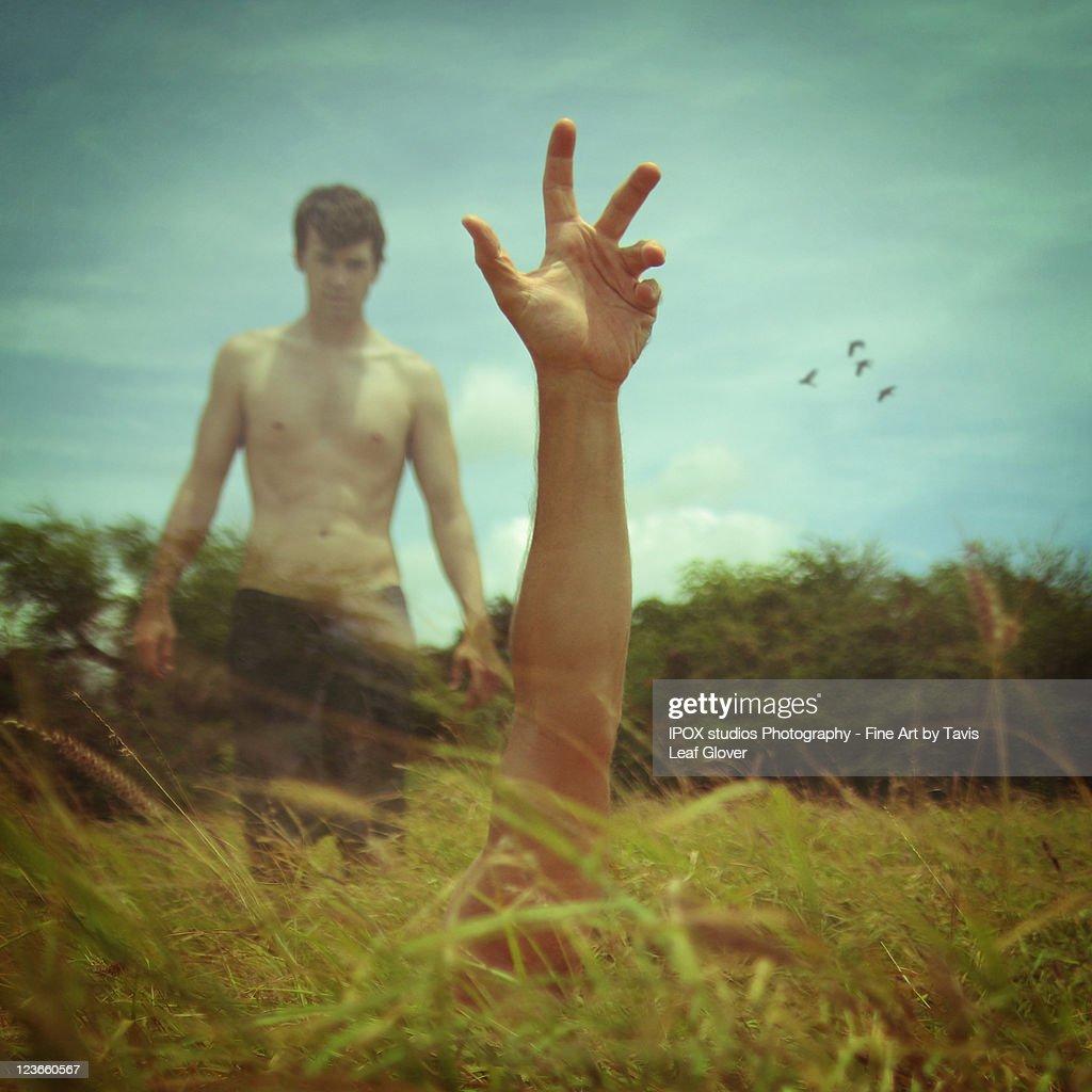 Hold my hand : Stock Photo