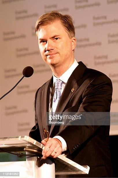 Holden Thorp chancellor for the University of North Carolina at Chapel Hill pauses while speaking during an event in Durham North Carolina US on...