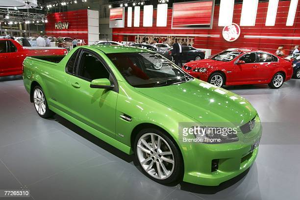 Holden VE Ute SSV is displayed at the 2007 Australian International Motor Show at the Sydney Convention and Exhibition Centre on October 11 2007 in...