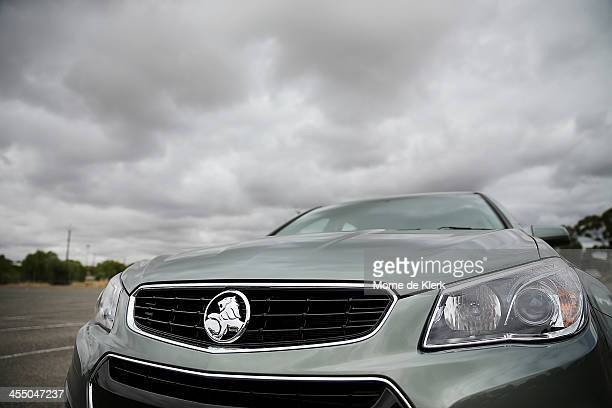 Holden vehicle is parked in the employee car parking area at the Holden manufacturing facility in Elizabeth on December on December 11 2013 in...