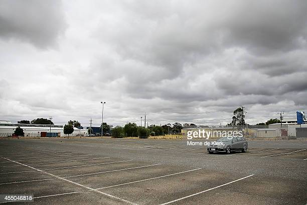 Holden vehicle sits in the employee car parking area at the Holden manufacturing facility in Elizabeth on December on December 11 2013 in Adelaide...