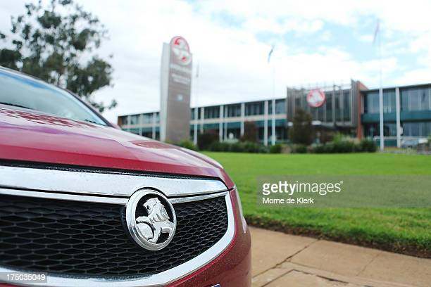 Holden vehicle stands outside the Holden manufacturing plant at Elizabeth on July 30 2013 in Adelaide Australia Holden a subsidiary of American car...