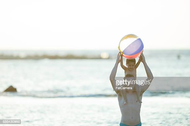 Holding a Beach Ball