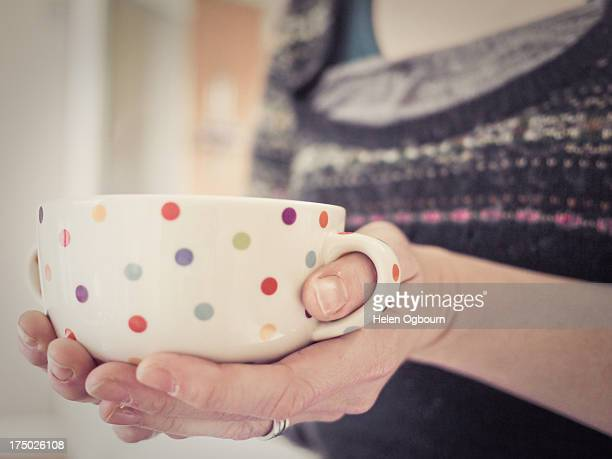 Holding a bowl
