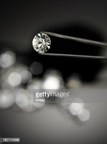 Holding a Diamond with Jewellery Tweezers