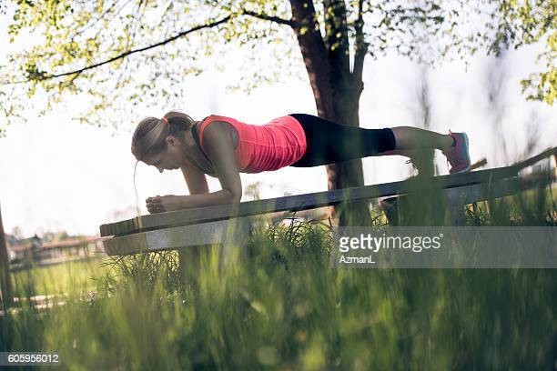 Holding a plank