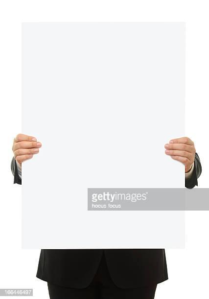 Holding leere Schild