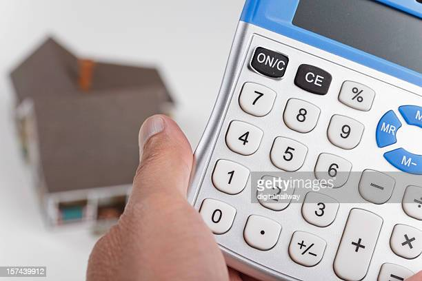 Holding calculator for house mortgage or home loan math