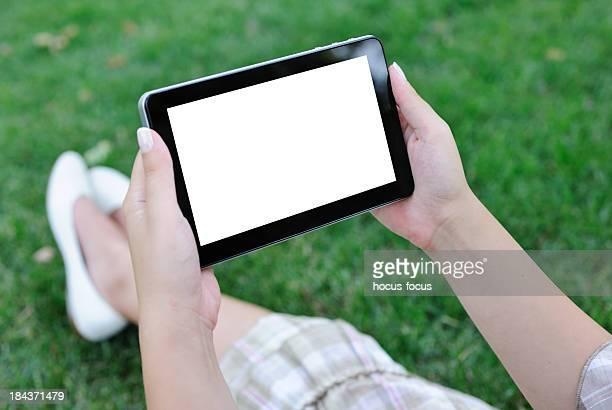 Con digital tablet in Natura