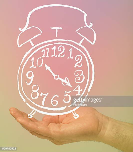 Holding illustrated clock