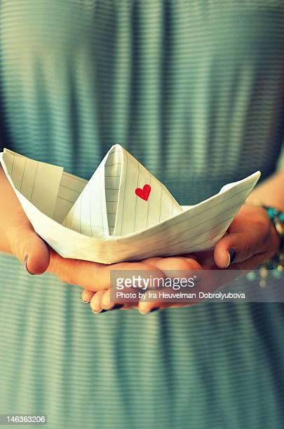 Holding love boat