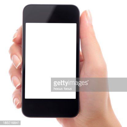 Holding white screen smart phone