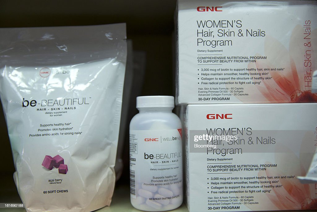 GNC Holdings Inc. women's health products are displayed for sale at a store in New York, U.S., on Thursday, Feb. 14, 2013. GNC Holdings Inc., a retailer of health and wellness products, reported revenue increases of 10.9% in the fourth quarter and 17.3% for the full year. Photographer: Jin Lee/Bloomberg via Getty Images