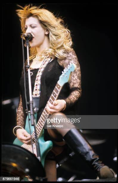 Hole Courtney Love performing on stage Pukkelpop Festival Hasselt Belgium 1995