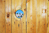 Hole in a wooden