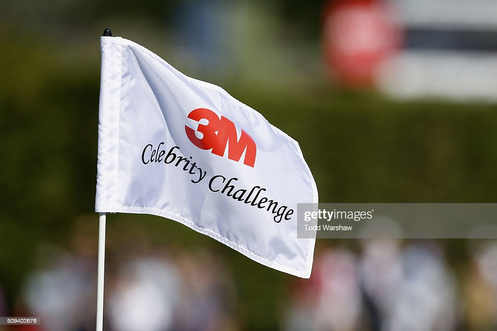 A hole marker is seen on the 17th hole during the 3M Celebrity Challenge prior to the AT&T Pebble Beach National Pro-Am at Pebble Beach Golf Links on February 10, 2016 in Pebble Beach, California.
