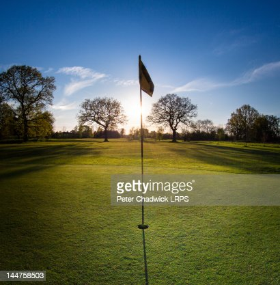 Hole on golf course : Stock Photo