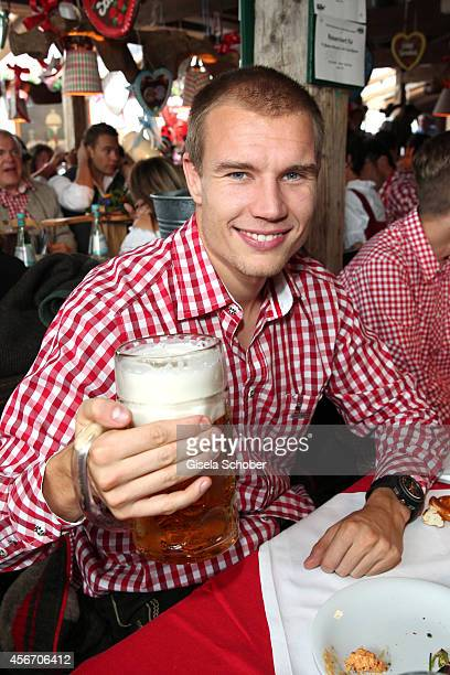 Holger Badstuber attends the FC Bayern Wies'n during Oktoberfest at Kaeferzetl/Theresienwiese on October 5 2014 in Munich Germany
