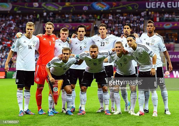 Holger Badstuber Manuel Neuer Toni Kroos Mats Hummels Mario Gomez Sami Khedira and Jerome Boateng Philipp Lahm Lukas Podolski Bastian Schweinsteiger...