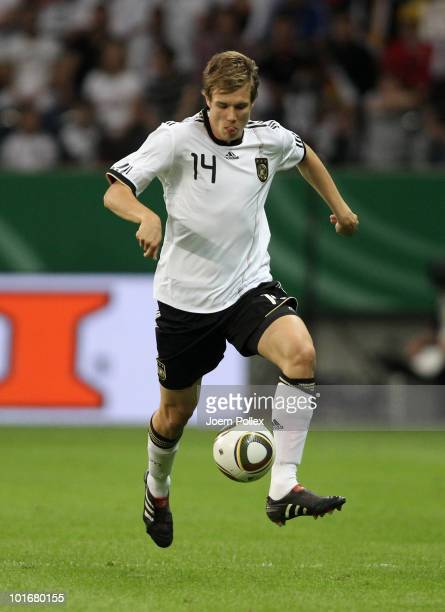 Holger Badstuber of Germany controls the ball during the international friendly match between Germany and BosniaHerzegovina at the Commerzbank Arena...
