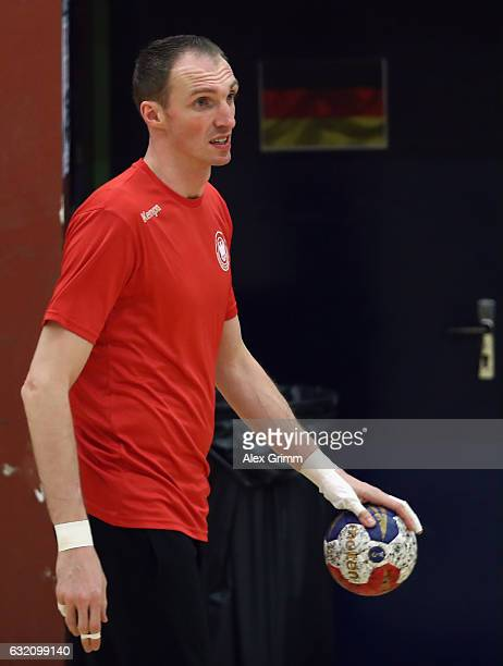 Holger Glandorf attends a Germany training session at Germinal during the 25th IHF Men's World Championship 2017 on January 19 2017 in Oissel France