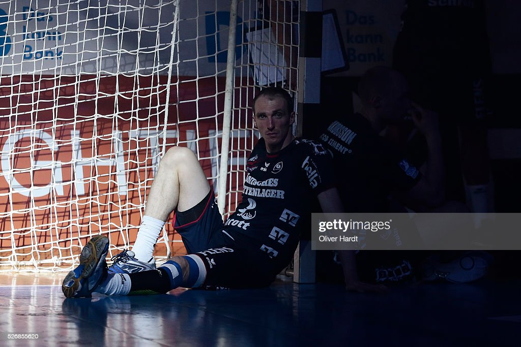 Holger Glandorf of Flensburg appears frustrated after the DKB REWE Final Four Finale 2016 between SG Flensburg Handewitt and SC Magdeburg at Barclaycard Arena on May 1, 2016 in Hamburg, Germany.