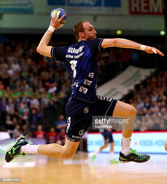 Holger Glandorf of Flensburg in action during the DKB HBL Bundesliga match between SG FlensburgHandewitt and HBW BalingenWeilstetten at FlensArena on...