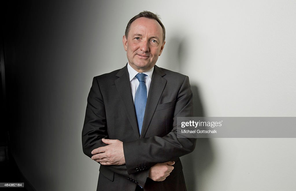 Holger Poppenhaeger minister of the interior of german state of thuringia poses during a portrait session on February 25 2015 in Berlin Germany