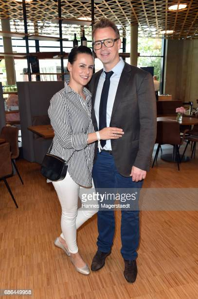 Holger Stromberg and his wife Nikita Stromberg attend the Pre Golf Party during the 9th Golf Charity Cup hosted by the Christoph Metzelder Foundation...